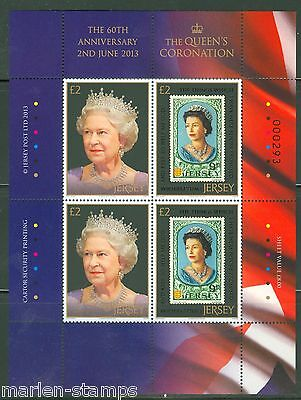 Jersey  60Th Anniversary Of The Coronation Of Quen Elizabeth Ii Sheet