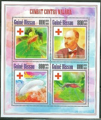 Guinea Bissau 2014 Battle Agains Malaria Red Cross Sheet Of Four Stamps