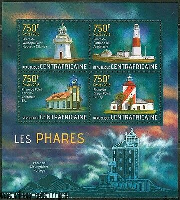 Central Africa  2013 Lighthouses Sheet Mint Nh