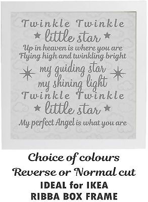 Vinyl Sticker for IKEA RIBBA FRAME - Twinkle Twinkle Little Star Up in Heaven