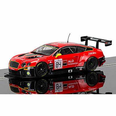 SCALEXTRIC Slot Car C3845 Bentley Continental GT3, Team HTP Red