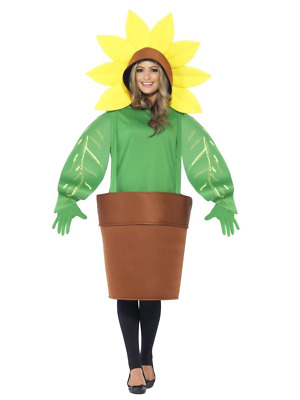 Sunflower Plant Flowerpot Jumpsuit All-in-one Comedy Fancy Dress Costume