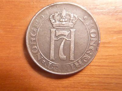 Norway 1920, 5 Ore, Iron, VF Condition, #5888