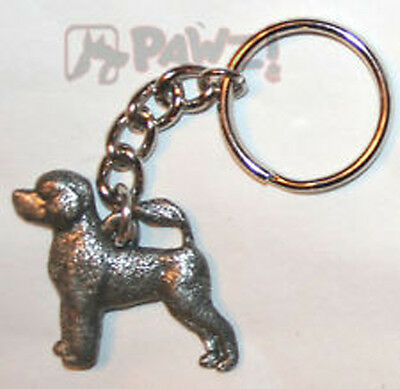 PORTUGUESE WATER DOG Fine Pewter Keychain Key Chain Ring