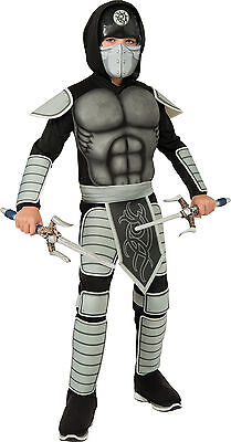 Stealth Ninja Muscle Chest Costume Child