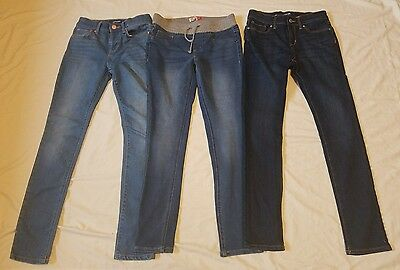Girls lot NEW 3 pair size 12S stretch skinny jeans 2 old navy 1 So light wash