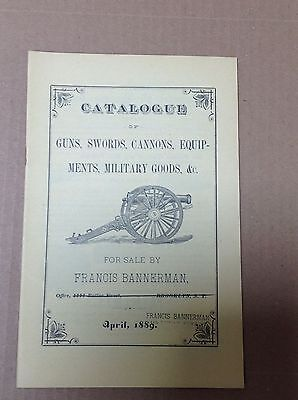 Vintage Frances Bannerman Catalog Guns Cannons Military Goods Etc. Free Ship