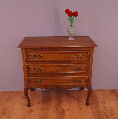 1840 !! Superb French Oak Chest Of Drawers In Louis Xv Style !!