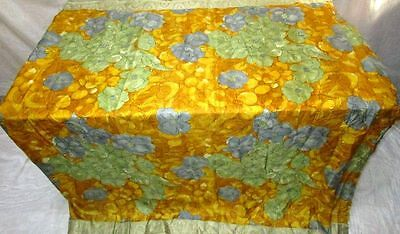 Golden Henna Pure Silk 4 yard Vintage Sari Saree special offer Free Gift #EKAKD