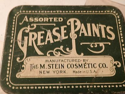 vintage 3 by 4 1/2 STEIN cosmetic co. grease paints tin