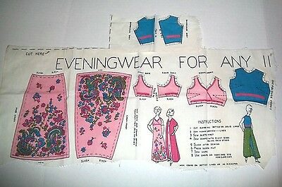 Vintage Barbie Uncut 1960S No Sew Clothes Outfits Material Very Hard To Find