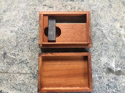 Antique Sawyer Tool Mfg Co Square Fitchburg Ma In Wood Box
