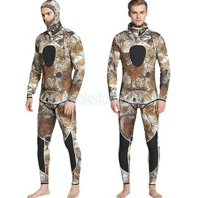 Men Two-Piece Wetsuit Spearfishing Diving Wetsuit 3mm Super Stretch Size S