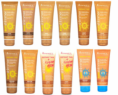 Rimmel London Instant Tan Sunshimmer 125Ml Wash Off Water Resistant Gradual Glow