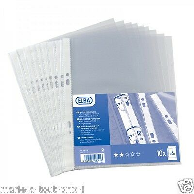 clear 10 pockets perforated transparent 17 x 22cm for small folder