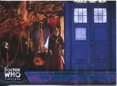 Doctor Who Timeless Blue Parallel [##/99] Base Card #45 The Christmas Invasion