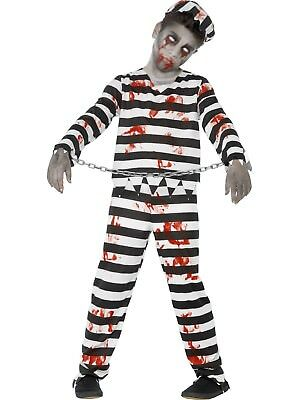 Zombie Convict Prisoner Costume Horror Halloween Blood Stained Fancy Dress