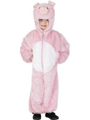 Kids Pig Jumpsuit Animal Fancy Dress Costume All In One With Hood