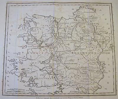 Map MOVEMENTS OF CORNWALLIS 1798 Rebellion Galway Mayo Ireland 1801 Musgrave