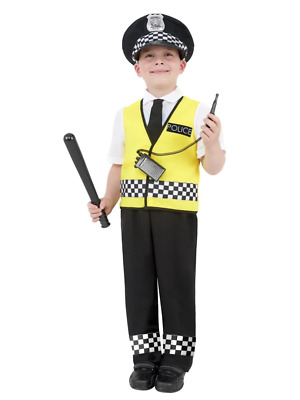 Police Officer Cop Policeman Fancy Dress Costume Book Week With Radio Set