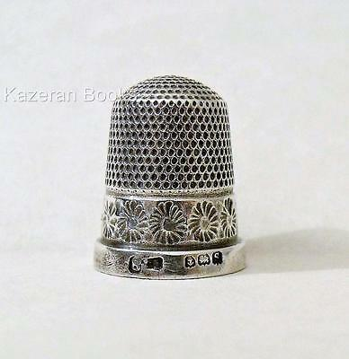 Antique 1917 Hallmarked Solid Sterling Silver Daisy Thimble James Swann