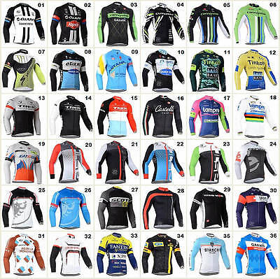 New Bicycle Team Road Bike Clothing HOT Jerseys Long Sleeve Tops Riding Shirt