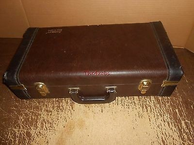 Vintage Bach Selmer Trumpet Brown Case With Key