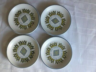 Set Of 4 Royal Air Force Diamond Jubilee 1978 Denby Pottery Coasters