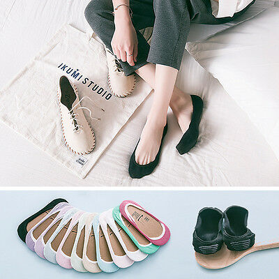 Women's Shallow Loafer Boat Thin Invisible No Show Liner Low Cut Cotton Socks