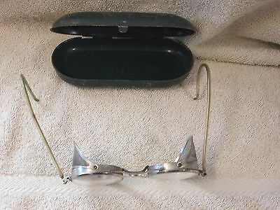 Vintage Pioneer Glasses Side Guards Steampunk Motorcycle Safety Aviator 1930-40s