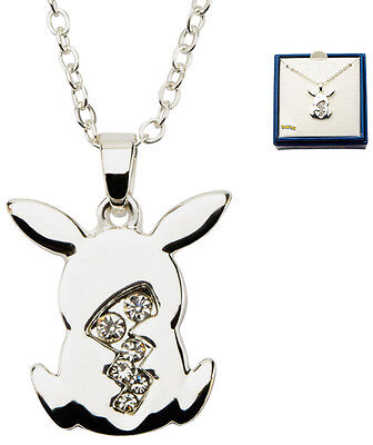 Pokemon Necklace Pikachu Tail Silver Plated with Gems