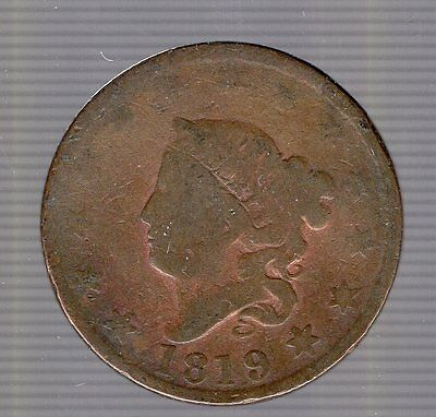1819 Coronet Head Large Cent. No Reserve.