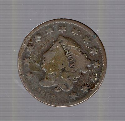 1833 Coronet Head Large Cent. No Reserve. Large Cent