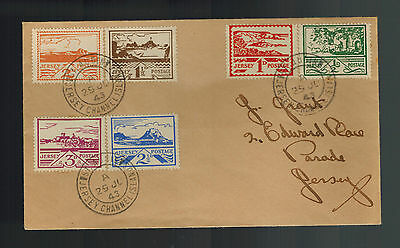 1943 Occupied Jersey first day Cover Complete Set N3-N8  FDC Souvenir Label