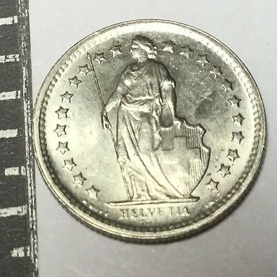 SWITZERLAND 1969 1/2 Franc coin about uncirculated