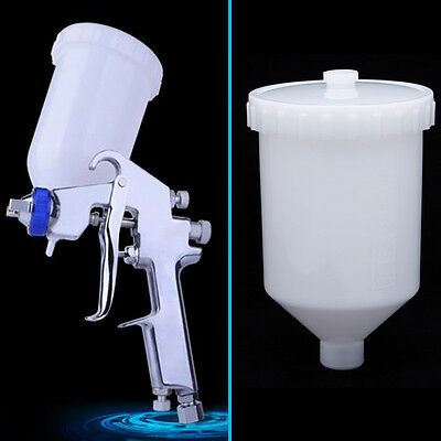 Air Gravity Feed Spray Paint Gun Plastic Cup Pot Fastmover Threaded Connector