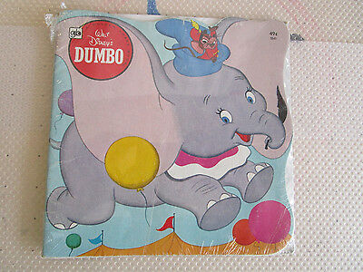 Walt Disney Dumbo Golden Shape Book With Record #5941