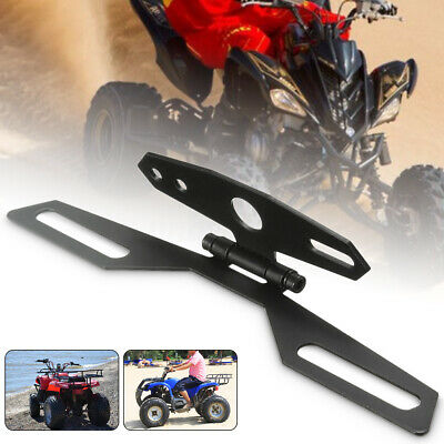 Adjustable Motorcycle Bike License Number Plate Light Holder Frame Mount Bracket