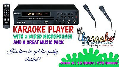 Mp600 Karaoke Party Pack, Mics, 178 Songs! Exclusive Offer! Aust 2 Yr Warranty