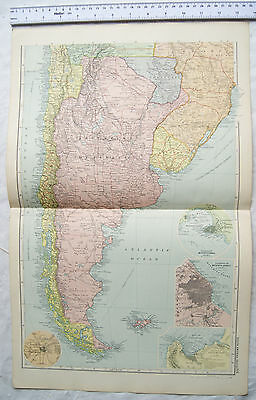Vintage: Bacons engraved map Sheet 46 South America