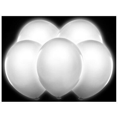 Bl5-002-Karton - Palloncini Led Bianchi Illuminati Tondi Luminosi Bianco Decoraz