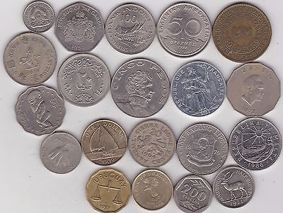 20 Mixed World Coins In Very Fine Or Better Condition