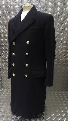 """Ex-British Royal Navy Officers Double Breasted 100% Wool Overcoat """"Crombie"""""""
