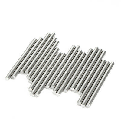 20pcs Round Shaft Rods Axles 304 Stainless Steel 3mm x 35mm for RC Toy Car