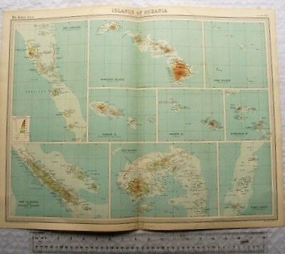 1922 The Times Plate 112 - Islands of Oceania