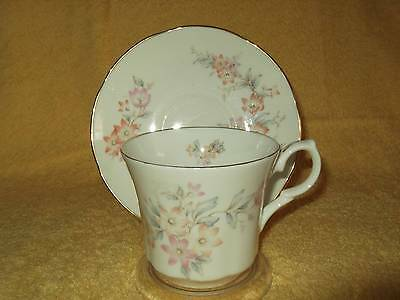 Springfield China England Cup & Saucer - Orange & pink flowers