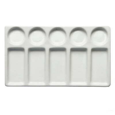 Jackson's : Ceramic Palette : Slant 10 well 4 3/4 x 7.5 in