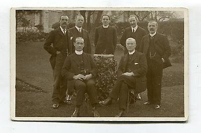 Unknown clergymen - group photo, location unknown - old real photo postcard