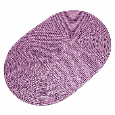 44cm Oval Lilac Woven Fabric Placemats Table Setting Place Mats Dining Room