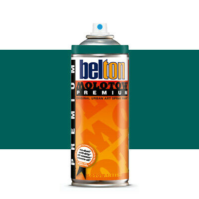 Molotow : Belton Premium Spray Paint : 400ml : Lagoon Blue 126 : By Road Parcel